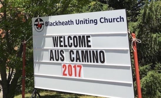 Sign for festival